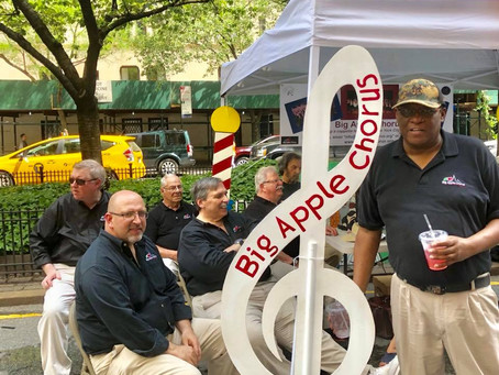 Big Apple Chorus attends the Murray Hill Street Fair