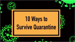 10 Ways to Survive Life in Quarantine - Nov 12 - 15, 2020 (online)