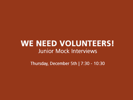 Jr Mock Interviews: Need Volunteers