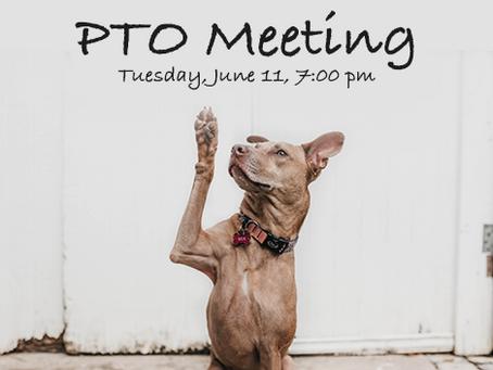 June 11, 7pm - PTO Mtg