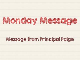 Bjorn's Monday Message - Mon, Jun 7