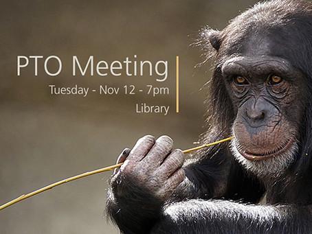Nov 12, 7pm - PTO Mtg