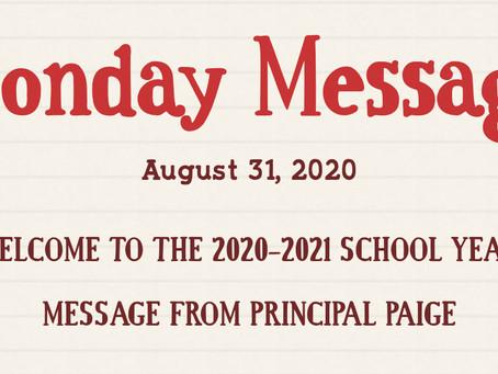 Bjorn's Monday Message - 8/31/2020
