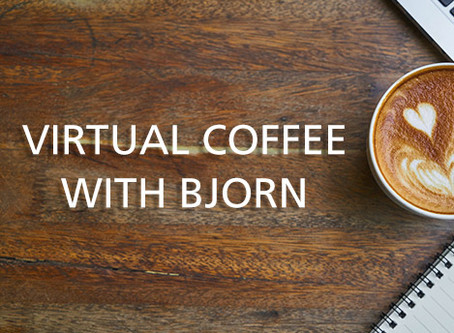 Virtual Coffee with Bjorn - Thu, 9/3, 9am