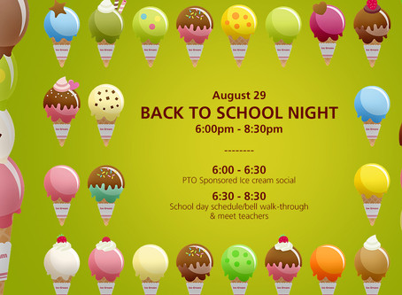 Back to School Night, Thu 8/29