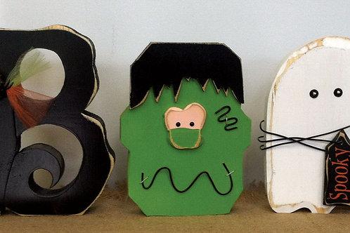 Boo...Carved letter, Frankenstein, Ghost