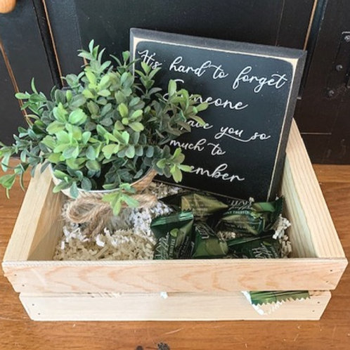 Small Gift Basket - It's hard to forget Someone