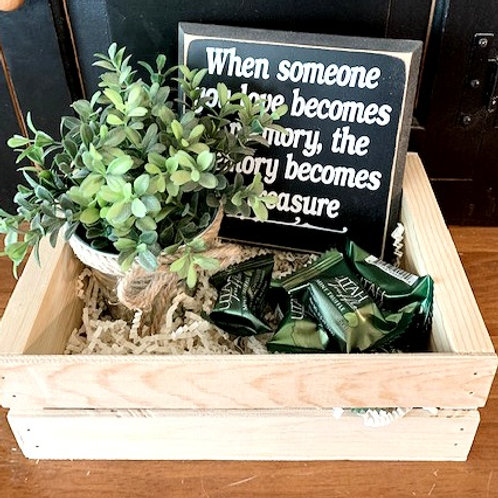 Small Gift Basket - When Someone you Love is in Heaven