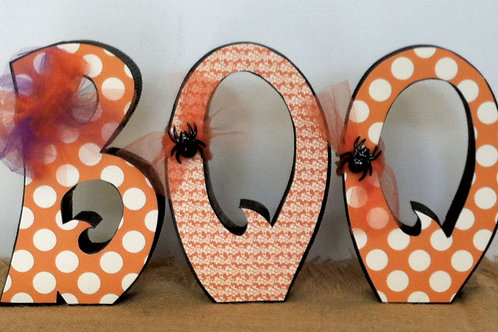 BOO...Carved Letters