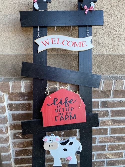 Life is Better on the Farm Porch Ladder set