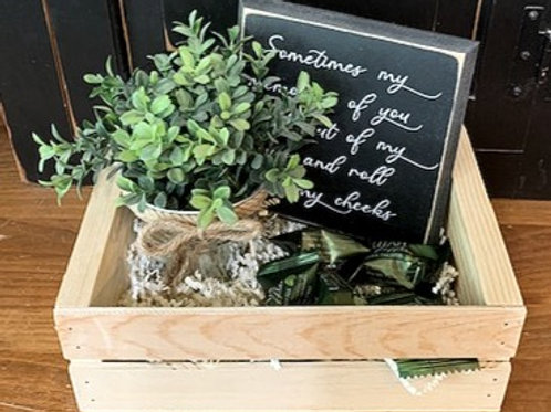 Small Gift Basket - Sometimes my memories