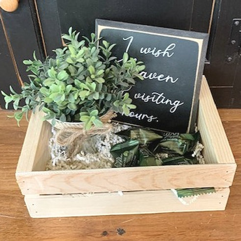 Small Gift Basket - I wish Heaven had visiting hours