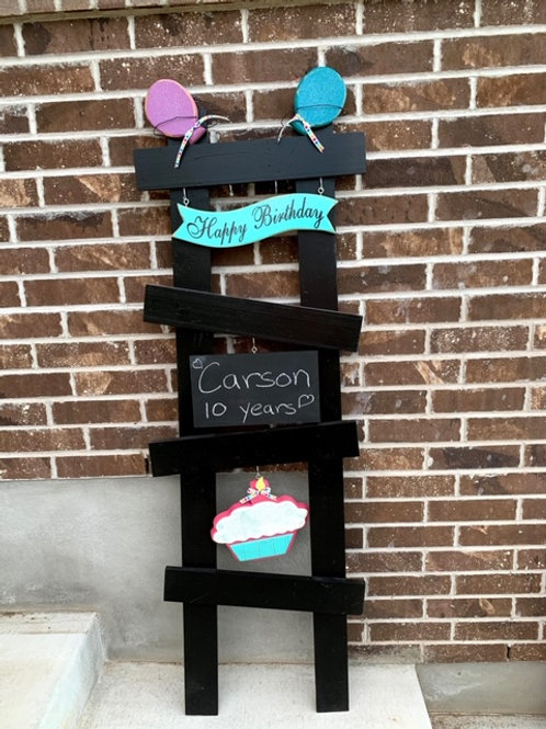NEW Happy Birthday Ladder Set