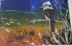 Birds eye view - mono print