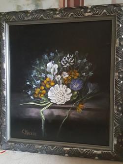 Flowers on Mantle - oil