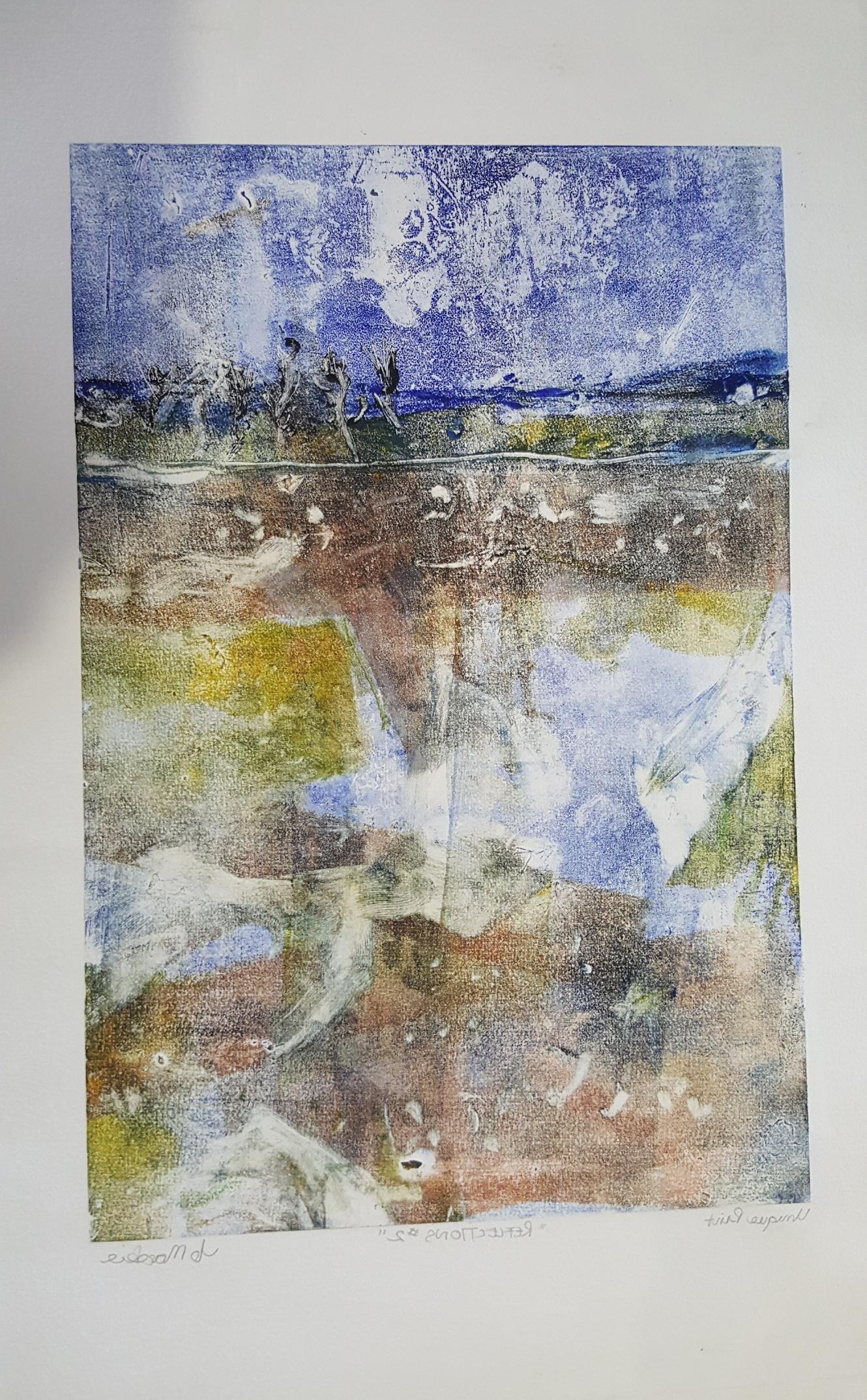 Reflections-mono print