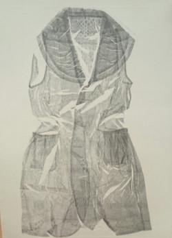 My Dress Emboss - $150 unframed
