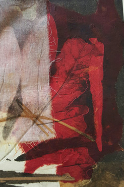 Red Leaf - Monoprint