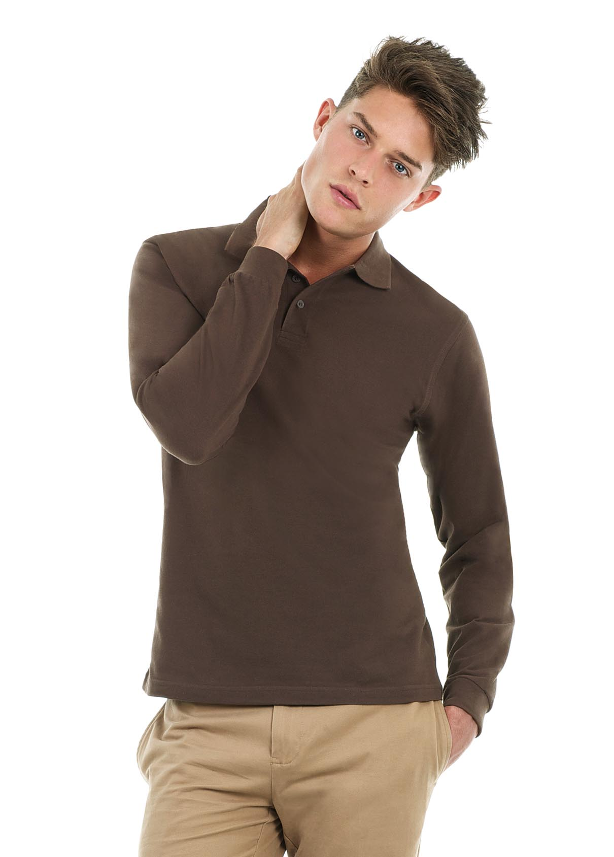 POLO HOMME MANCHES LONGUES PERSONNALISABLE