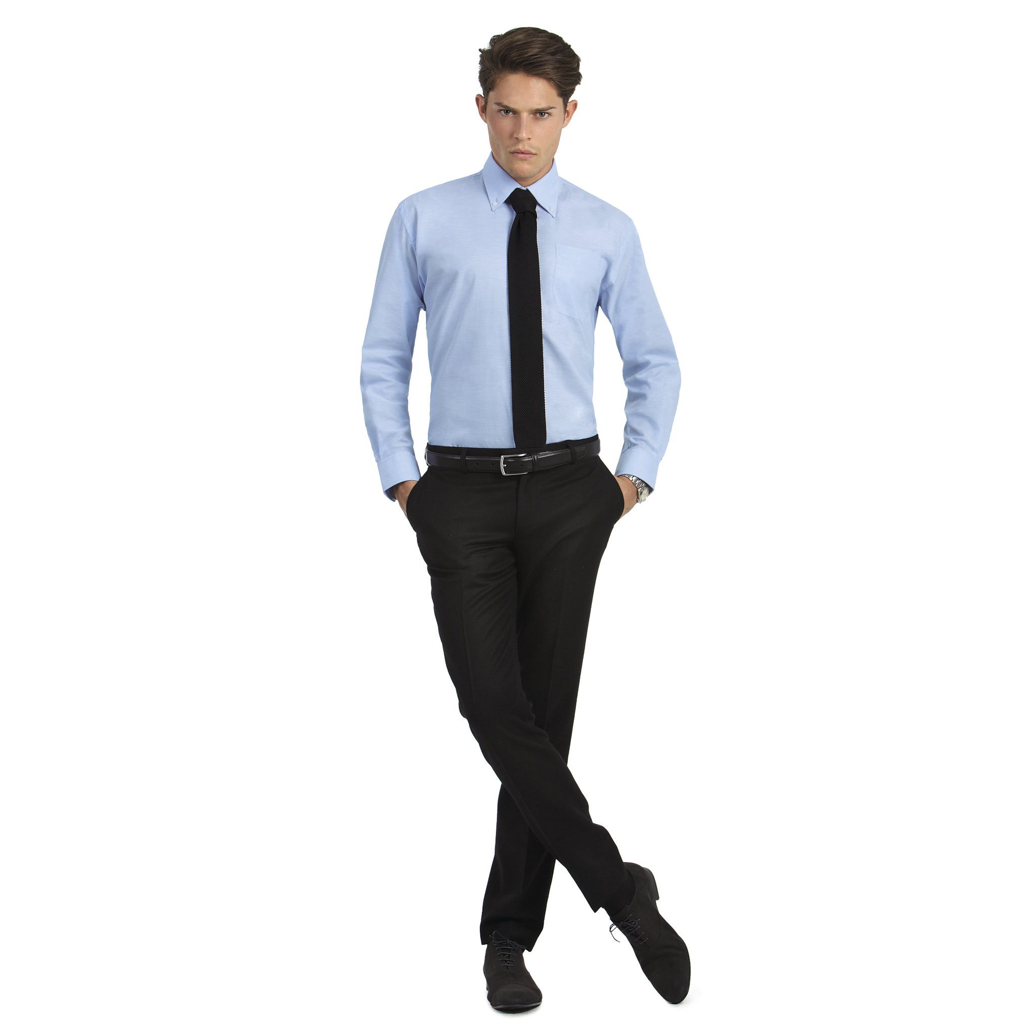 oxford-long-sleeves-men-chemise-oxford-homme