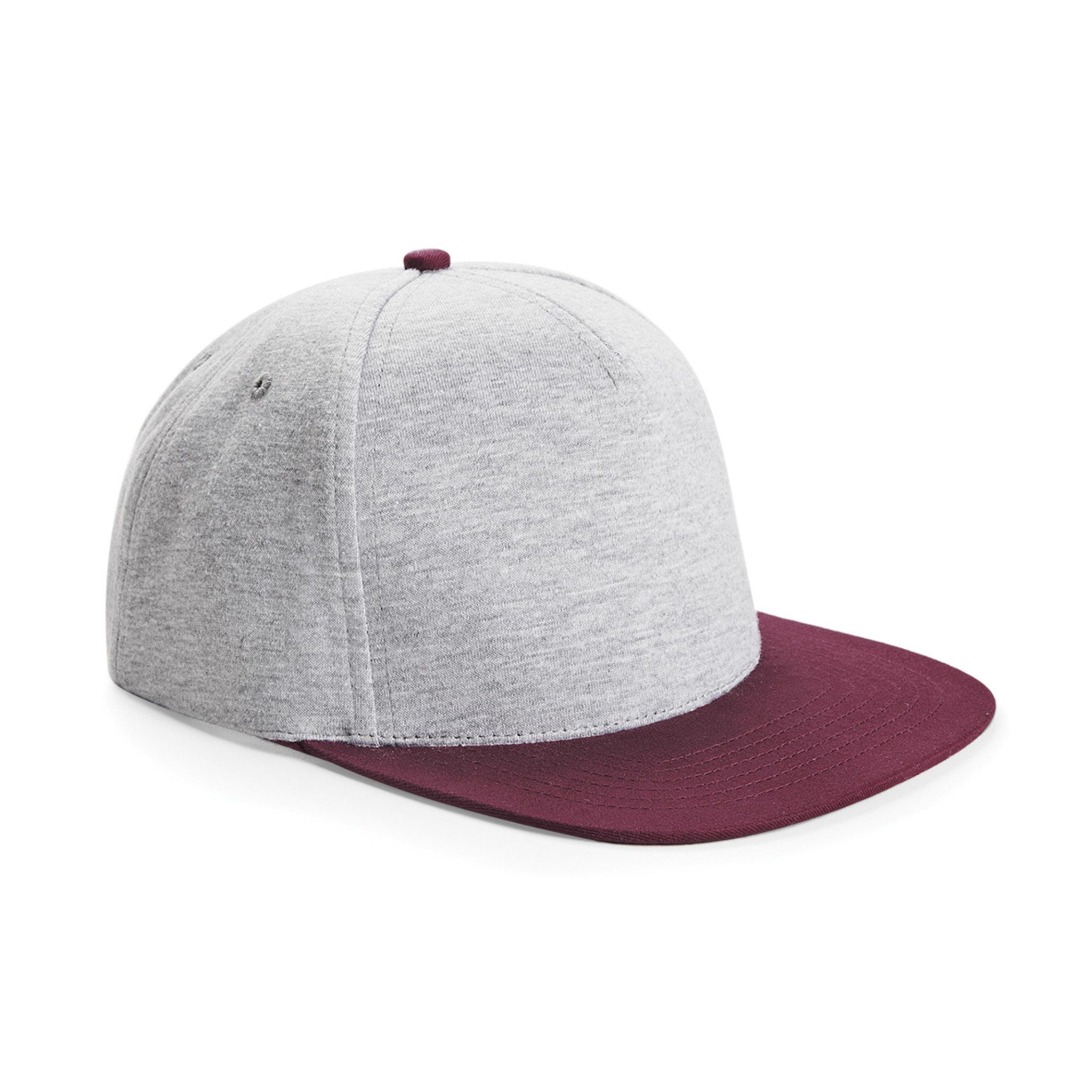 BURGUNDY & HEATHER GREY