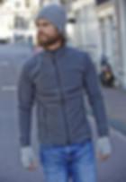 veste polaire, zippée , avec ou sans manches à personnaliser en broderie