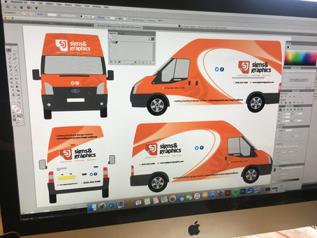 NEW VAN GRAPHICS FOR SJ SIGNS