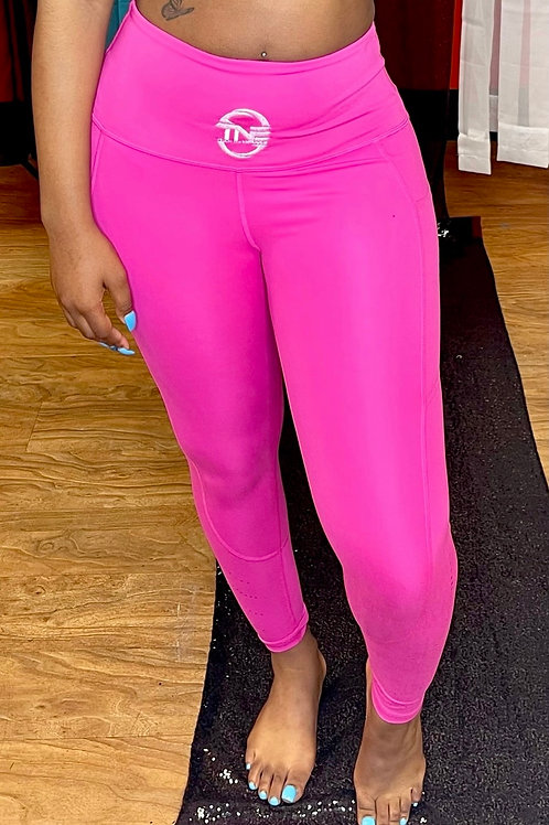 Hot Pink It's Me Not You Athletic Leggings