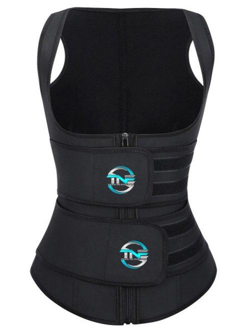 Full Coverage Double Belt Latex Trainer Vest