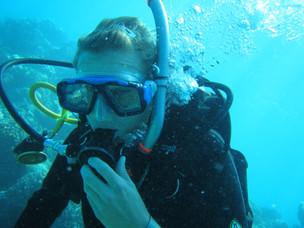 Josefin Sundin, diving at Lizard Island
