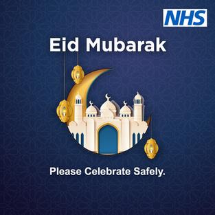 Eid Mubarak, please celebrate safely