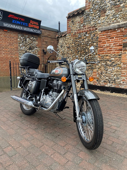 Royal Enfield Bullet with Rack and quality Kappa Top Box