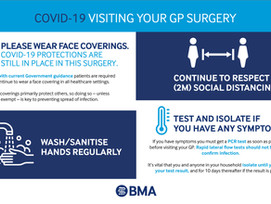 COVID-19 Update - Visiting your GP Surgery