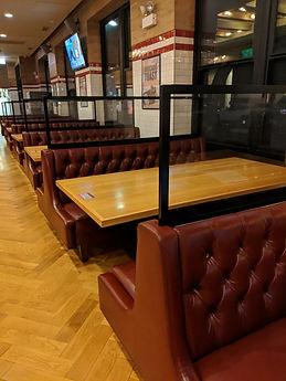 Restaurant booth Plexiglass dividers.jpg