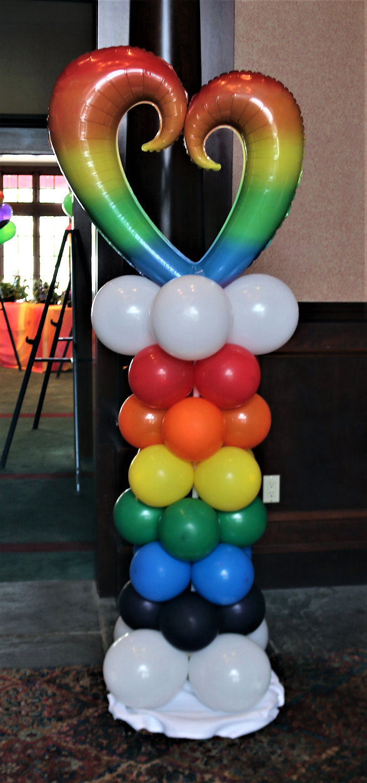 A rainbow themed celebration of life!