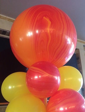 Three foot balloons are great toppers for balloon columns!