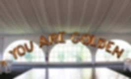 "40"" letter balloon arch"