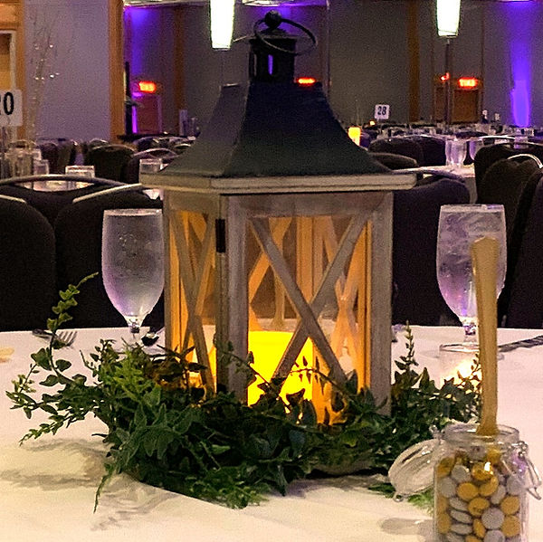 Table lanterns come in all shapes, sizes and styles.  Beautiful!
