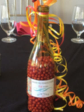 Personalized wine bottle balloon weights!