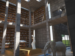 San Girolamo - la biblioteca