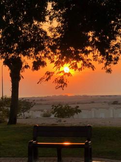 Orange Sunset at Qatar
