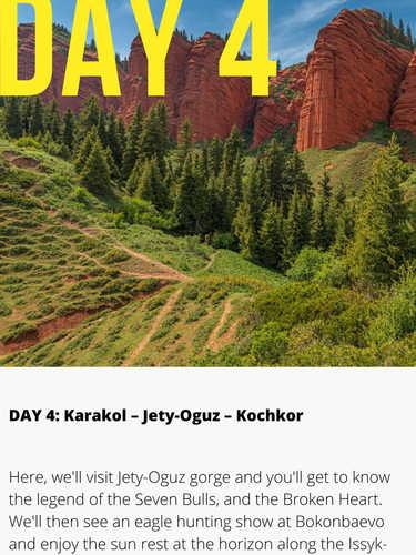Jety Orguz Kyrgyzstan