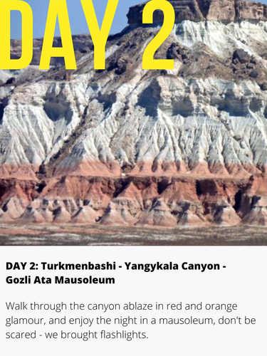 YangyKala Canyon Turkmenistan