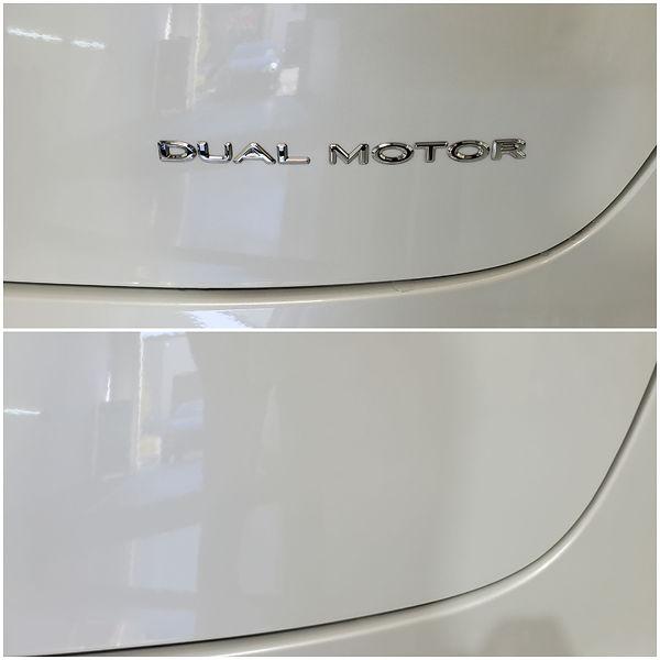 Tesla Emblem Removal