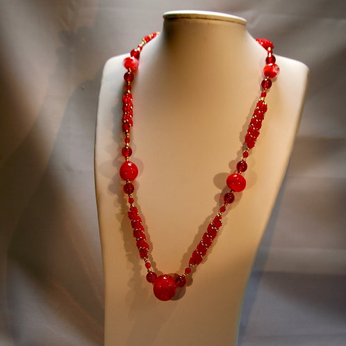 Red and Gold Twist necklace.