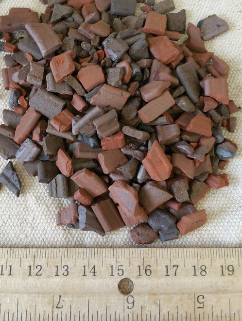 Large Brick Red Ceramic Reinforcing Aggregate