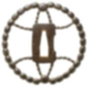 数珠透図鐔 無銘 羽黒