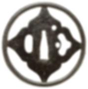四菱透図鐔 無銘 明珍