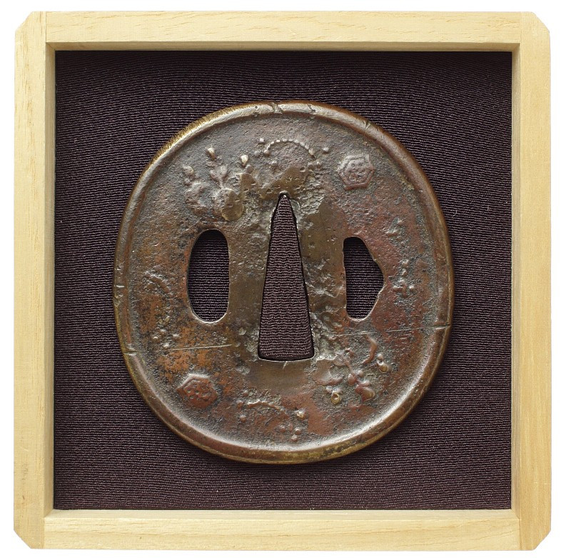 日本刀販売品 鐔 無銘 鏡師