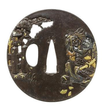 祇園忠盛図鐔 金印 珍重